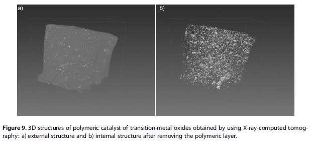 3D structures of polymeric catalyst of transition-metal oxides